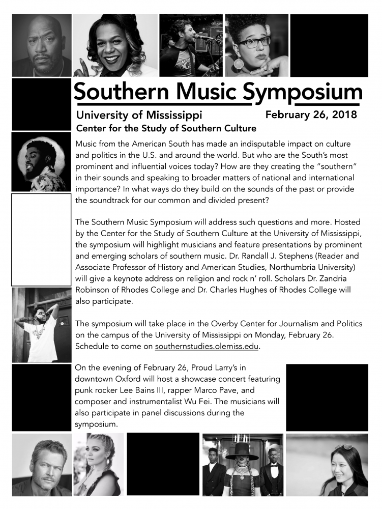 2018 Southern Music Symposium - Center for the Study of