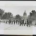 Group marching near the Capitol building in Washington, D.C., to protest the lynching of four African-Americans in Georgia. Courtesy Library of Congress