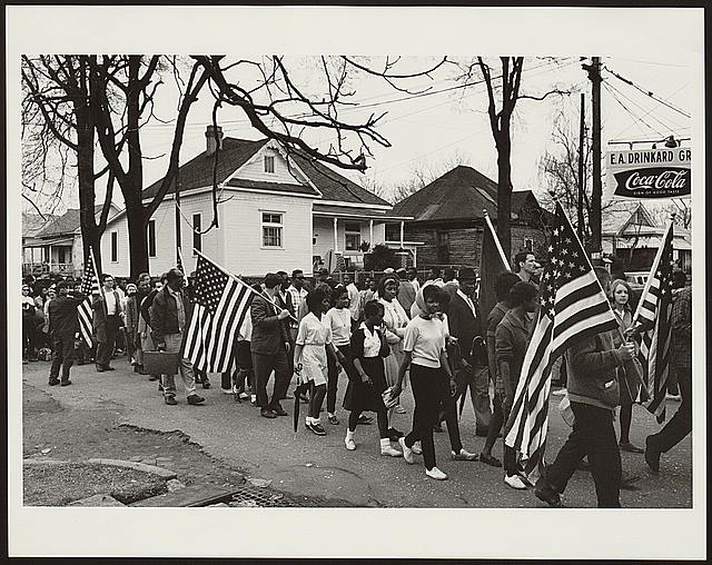 Selma to Montgomery March, 1965. Courtesy Library of Congress.