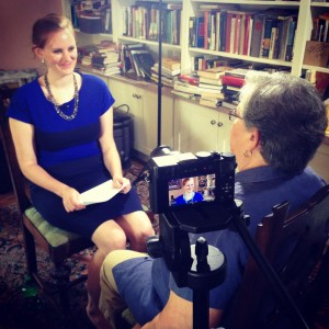 Dr. Mikaela Adams interviewed Dr. Perdue the morning of the lecture.