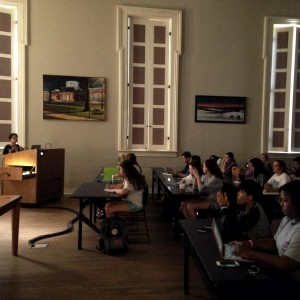 Dr. Simone Delerme teaches her Southern Studies 101 class