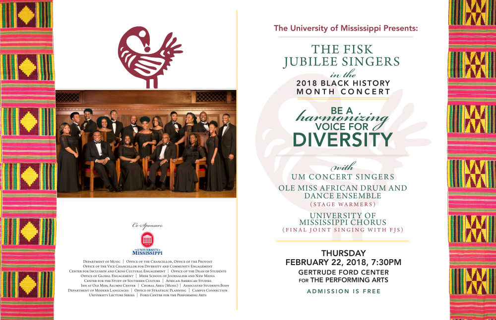 Fisk University Jubilee Singers Concert: Being a Harmonizing Voice for Diversity @ Gertrude C. Ford Center for the Performing Arts | Berkeley | California | United States