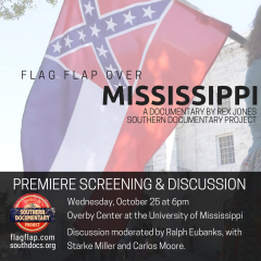 Premiere Screening of FLAG FLAP OVER MISSISSIPPI @ Overby Center  | Oxford | Mississippi | United States