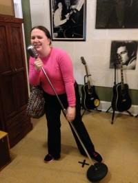 Katie Gill at Sun Studios.