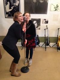 Amanda Malloy and Irene Vanriper at Sun Studios.