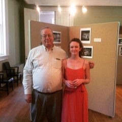Lauren Holt with David Wharton at the exhibition opening reception.