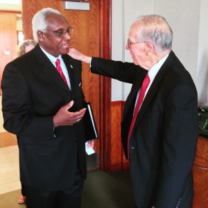 Dr. Leslie McLemore with Governor William Winter.