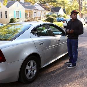 Corinthian Washington, festival organizer, helps direct traffic.