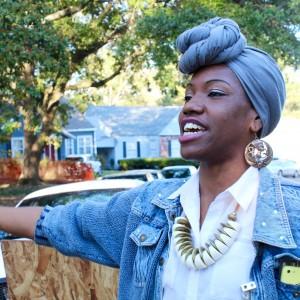 LaDeisha Jones, festival volunteer.
