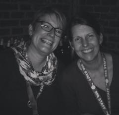 SFA Staff Wonderpeople Melissa Hall and Mary Beth Lasseter.