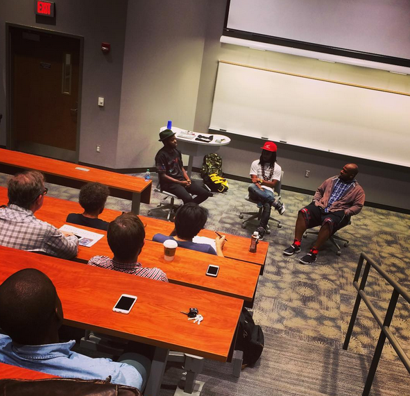 A discussion with Marco Pave, Alfred Banks, and Kiese Laymon.