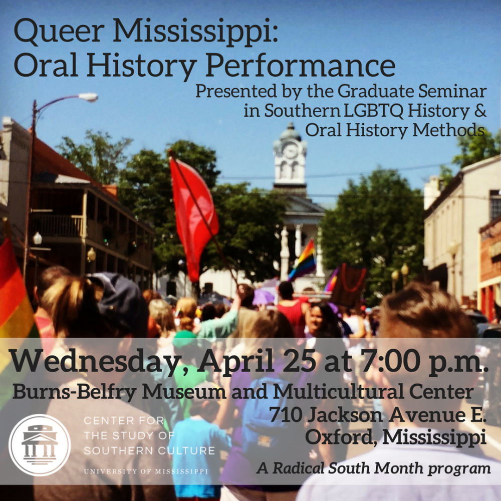 Queer Mississippi: Oral History Performance @ Burns-Belfry Museum and Multicultural Center | Oxford | Mississippi | United States
