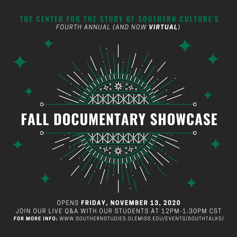 Fall Documentary Showcase @ Online/Virtual